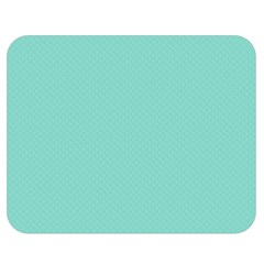 Tiffany Aqua Blue Puffy Quilted Pattern Double Sided Flano Blanket (Medium)