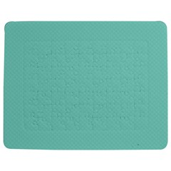 Tiffany Aqua Blue Puffy Quilted Pattern Jigsaw Puzzle Photo Stand (Rectangular)
