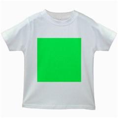 Lanai Lime Green - Acid Green Kids White T-Shirts