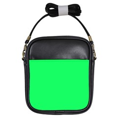 Lanai Lime Green - Acid Green Girls Sling Bags