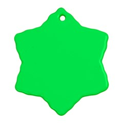 Lanai Lime Green - Acid Green Snowflake Ornament (Two Sides)