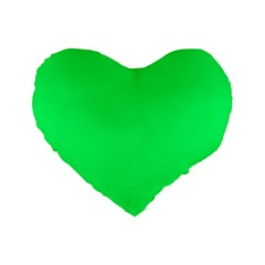 Lanai Lime Green - Acid Green Standard 16  Premium Heart Shape Cushions