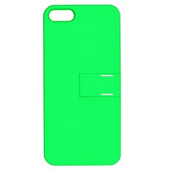 Lanai Lime Green - Acid Green Apple iPhone 5 Hardshell Case with Stand