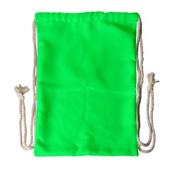 Lanai Lime Green - Acid Green Drawstring Bag (Large)