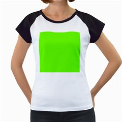 Bright Fluorescent Green Neon Women s Cap Sleeve T