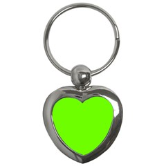 Bright Fluorescent Green Neon Key Chains (Heart)