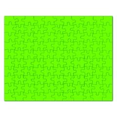 Bright Fluorescent Green Neon Rectangular Jigsaw Puzzl