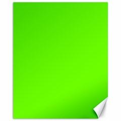 Bright Fluorescent Green Neon Canvas 11  x 14