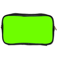 Bright Fluorescent Green Neon Toiletries Bags 2-Side