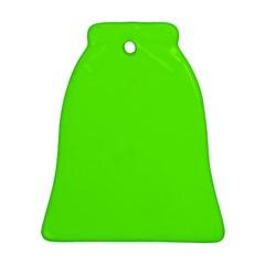 Bright Fluorescent Green Neon Ornament (Bell)