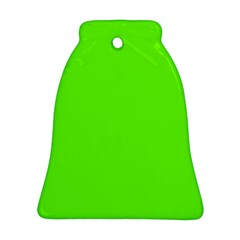 Bright Fluorescent Green Neon Bell Ornament (Two Sides)