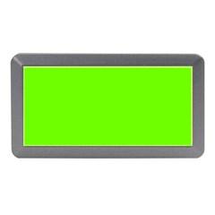 Bright Fluorescent Green Neon Memory Card Reader (Mini)