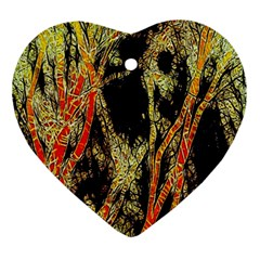 Artistic Effect Fractal Forest Background Ornament (heart)