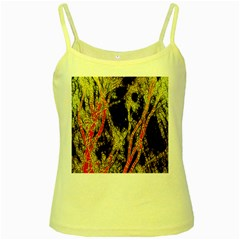 Artistic Effect Fractal Forest Background Yellow Spaghetti Tank