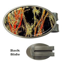 Artistic Effect Fractal Forest Background Money Clips (oval)