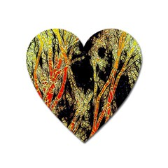 Artistic Effect Fractal Forest Background Heart Magnet