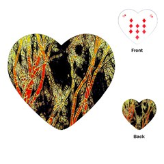 Artistic Effect Fractal Forest Background Playing Cards (Heart)