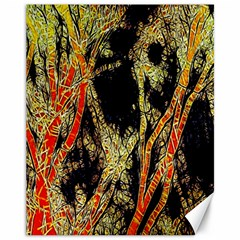 Artistic Effect Fractal Forest Background Canvas 11  X 14