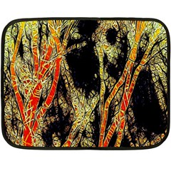 Artistic Effect Fractal Forest Background Fleece Blanket (mini)