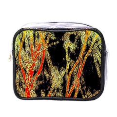 Artistic Effect Fractal Forest Background Mini Toiletries Bags