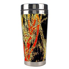 Artistic Effect Fractal Forest Background Stainless Steel Travel Tumblers