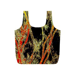 Artistic Effect Fractal Forest Background Full Print Recycle Bags (S)