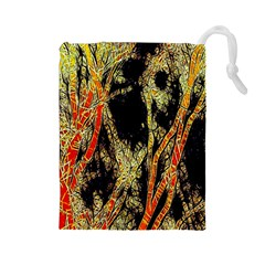 Artistic Effect Fractal Forest Background Drawstring Pouches (Large)