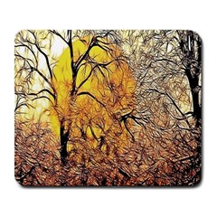 Summer Sun Set Fractal Forest Background Large Mousepads