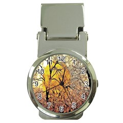Summer Sun Set Fractal Forest Background Money Clip Watches