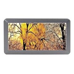 Summer Sun Set Fractal Forest Background Memory Card Reader (Mini)