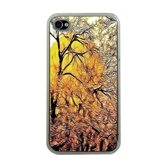 Summer Sun Set Fractal Forest Background Apple Iphone 4 Case (clear)