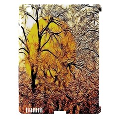 Summer Sun Set Fractal Forest Background Apple Ipad 3/4 Hardshell Case (compatible With Smart Cover)