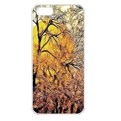 Summer Sun Set Fractal Forest Background Apple iPhone 5 Seamless Case (White)
