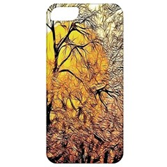 Summer Sun Set Fractal Forest Background Apple iPhone 5 Classic Hardshell Case