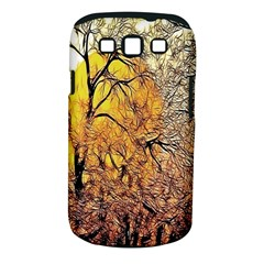 Summer Sun Set Fractal Forest Background Samsung Galaxy S Iii Classic Hardshell Case (pc+silicone)
