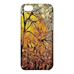 Summer Sun Set Fractal Forest Background Apple iPhone 5C Hardshell Case