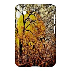 Summer Sun Set Fractal Forest Background Samsung Galaxy Tab 2 (7 ) P3100 Hardshell Case