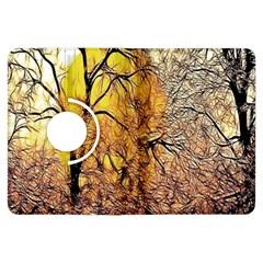 Summer Sun Set Fractal Forest Background Kindle Fire HDX Flip 360 Case