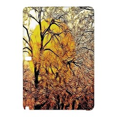 Summer Sun Set Fractal Forest Background Samsung Galaxy Tab Pro 10 1 Hardshell Case