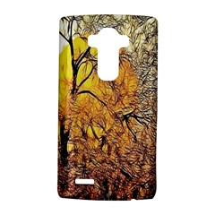 Summer Sun Set Fractal Forest Background Lg G4 Hardshell Case
