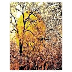 Summer Sun Set Fractal Forest Background Drawstring Bag (large)