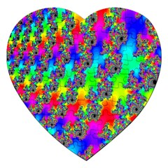 Digital Rainbow Fractal Jigsaw Puzzle (heart)