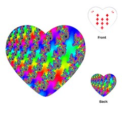 Digital Rainbow Fractal Playing Cards (Heart)
