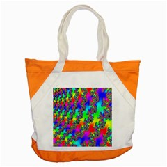 Digital Rainbow Fractal Accent Tote Bag