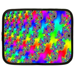 Digital Rainbow Fractal Netbook Case (large)