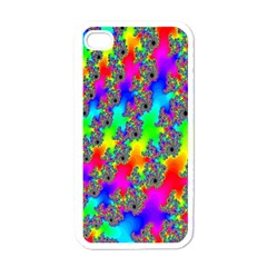 Digital Rainbow Fractal Apple Iphone 4 Case (white)