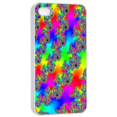 Digital Rainbow Fractal Apple Iphone 4/4s Seamless Case (white)