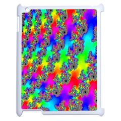 Digital Rainbow Fractal Apple Ipad 2 Case (white)