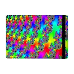 Digital Rainbow Fractal Apple iPad Mini Flip Case