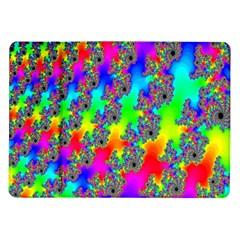 Digital Rainbow Fractal Samsung Galaxy Tab 10.1  P7500 Flip Case